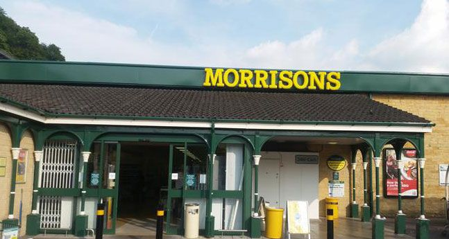 A Morrisons store, revamp. Newly painted